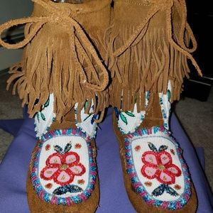 Minnetonka beaded boots